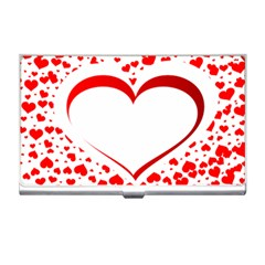 Love Red Hearth Business Card Holders