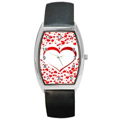 Love Red Hearth Barrel Style Metal Watch
