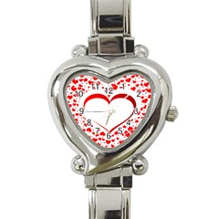 Love Red Hearth Heart Italian Charm Watch