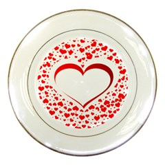 Love Red Hearth Porcelain Plates