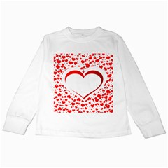 Love Red Hearth Kids Long Sleeve T Shirts