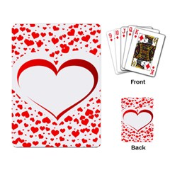 Love Red Hearth Playing Card