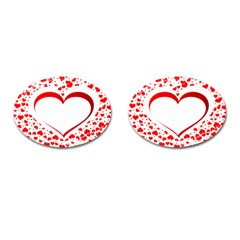 Love Red Hearth Cufflinks (oval)