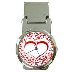 Love Red Hearth Money Clip Watches