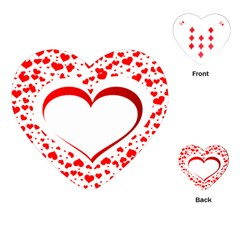 Love Red Hearth Playing Cards (heart)