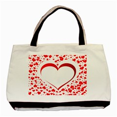 Love Red Hearth Basic Tote Bag