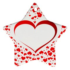 Love Red Hearth Star Ornament (two Sides)