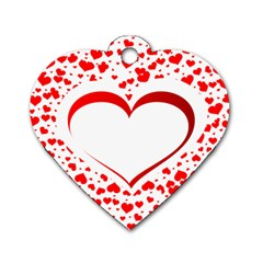 Love Red Hearth Dog Tag Heart (one Side)