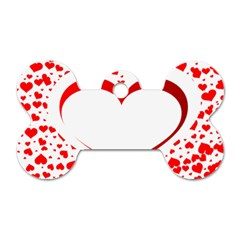 Love Red Hearth Dog Tag Bone (two Sides)