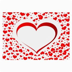 Love Red Hearth Large Glasses Cloth