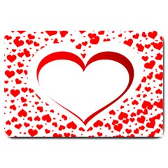 Love Red Hearth Large Doormat