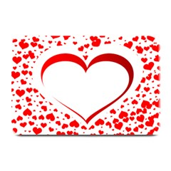 Love Red Hearth Plate Mats