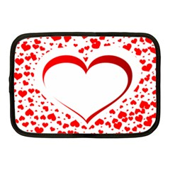Love Red Hearth Netbook Case (Medium)