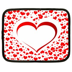 Love Red Hearth Netbook Case (large)