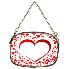 Love Red Hearth Chain Purses (two Sides)