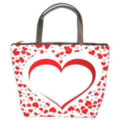 Love Red Hearth Bucket Bags