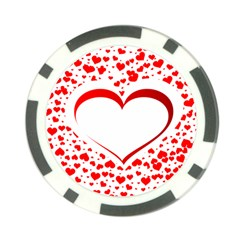 Love Red Hearth Poker Chip Card Guard (10 Pack)