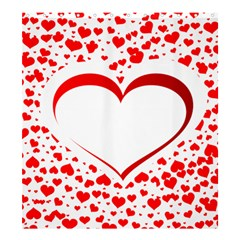 Love Red Hearth Shower Curtain 66  X 72  (large)