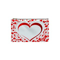 Love Red Hearth Cosmetic Bag (small)
