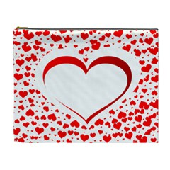Love Red Hearth Cosmetic Bag (xl)