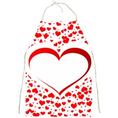 Love Red Hearth Full Print Aprons