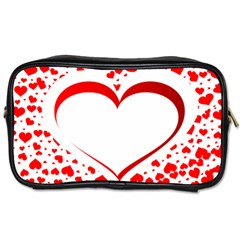 Love Red Hearth Toiletries Bags 2 Side