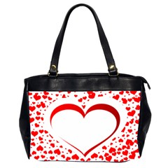 Love Red Hearth Office Handbags (2 Sides)