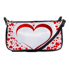 Love Red Hearth Shoulder Clutch Bags