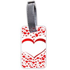 Love Red Hearth Luggage Tags (one Side)
