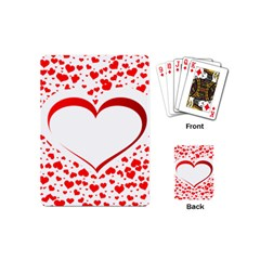 Love Red Hearth Playing Cards (mini)