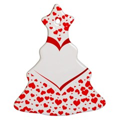 Love Red Hearth Christmas Tree Ornament (Two Sides)