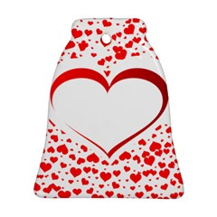 Love Red Hearth Bell Ornament (two Sides)