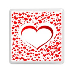 Love Red Hearth Memory Card Reader (square)