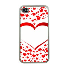 Love Red Hearth Apple iPhone 4 Case (Clear)