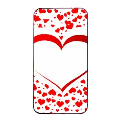 Love Red Hearth Apple iPhone 4/4s Seamless Case (Black)