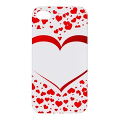 Love Red Hearth Apple Iphone 4/4s Hardshell Case