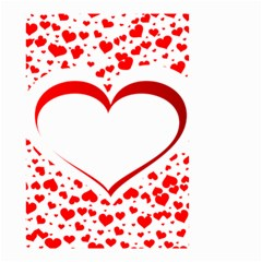 Love Red Hearth Small Garden Flag (two Sides)