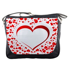 Love Red Hearth Messenger Bags