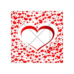 Love Red Hearth Acrylic Tangram Puzzle (4  X 4 )