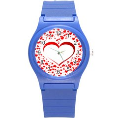 Love Red Hearth Round Plastic Sport Watch (s)
