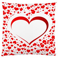 Love Red Hearth Large Cushion Case (One Side)