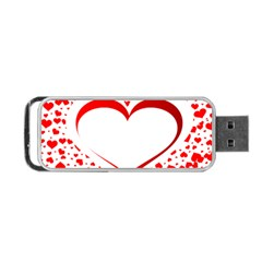 Love Red Hearth Portable Usb Flash (one Side)