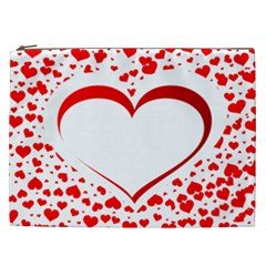 Love Red Hearth Cosmetic Bag (xxl)