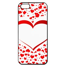 Love Red Hearth Apple Iphone 5 Seamless Case (black)