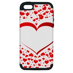 Love Red Hearth Apple Iphone 5 Hardshell Case (pc+silicone)