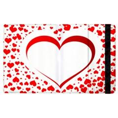 Love Red Hearth Apple Ipad 3/4 Flip Case