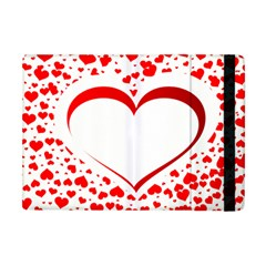 Love Red Hearth Apple Ipad Mini Flip Case