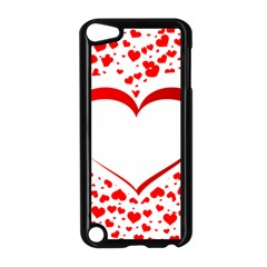 Love Red Hearth Apple Ipod Touch 5 Case (black)