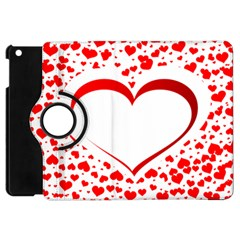 Love Red Hearth Apple Ipad Mini Flip 360 Case