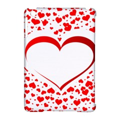 Love Red Hearth Apple Ipad Mini Hardshell Case (compatible With Smart Cover)